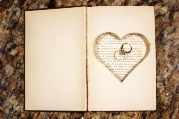 Book wedding ring holder