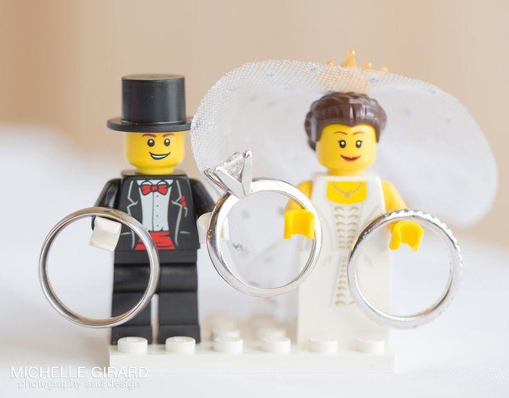 Lego wedding ring holders